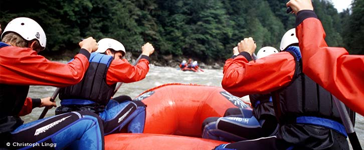 Cannyoining, Rafting, Klettern im Bregenzerwald