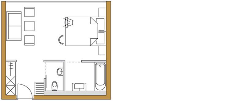 Zimmer Kirchblick (32m²)