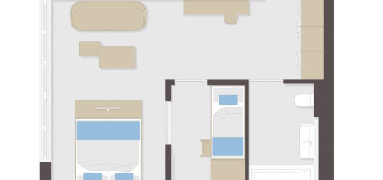 Familiensuite (42m²)